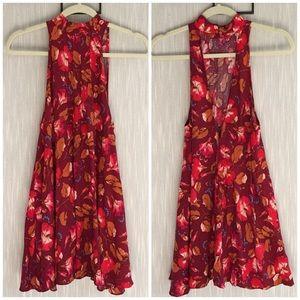 Free People Floral Print Mini Dress